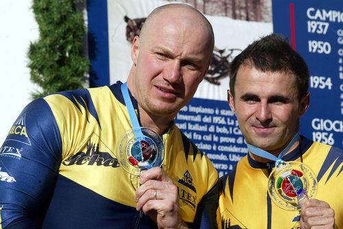 Ivo Danilevič a Roman Gomola při zisku titulu Mistrů Evropy v roce 2007